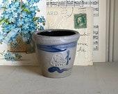 Salt glaze Rowe Pottery Miniature Crock Wisconsin Custard Cup