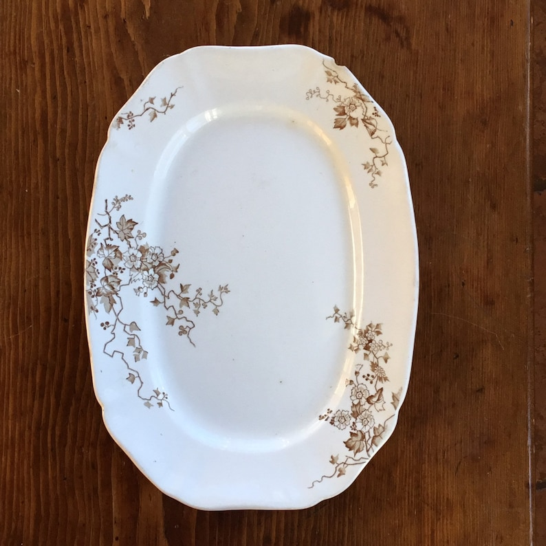 Brown Transfer Ware Platter Ironstone Serving Plate England