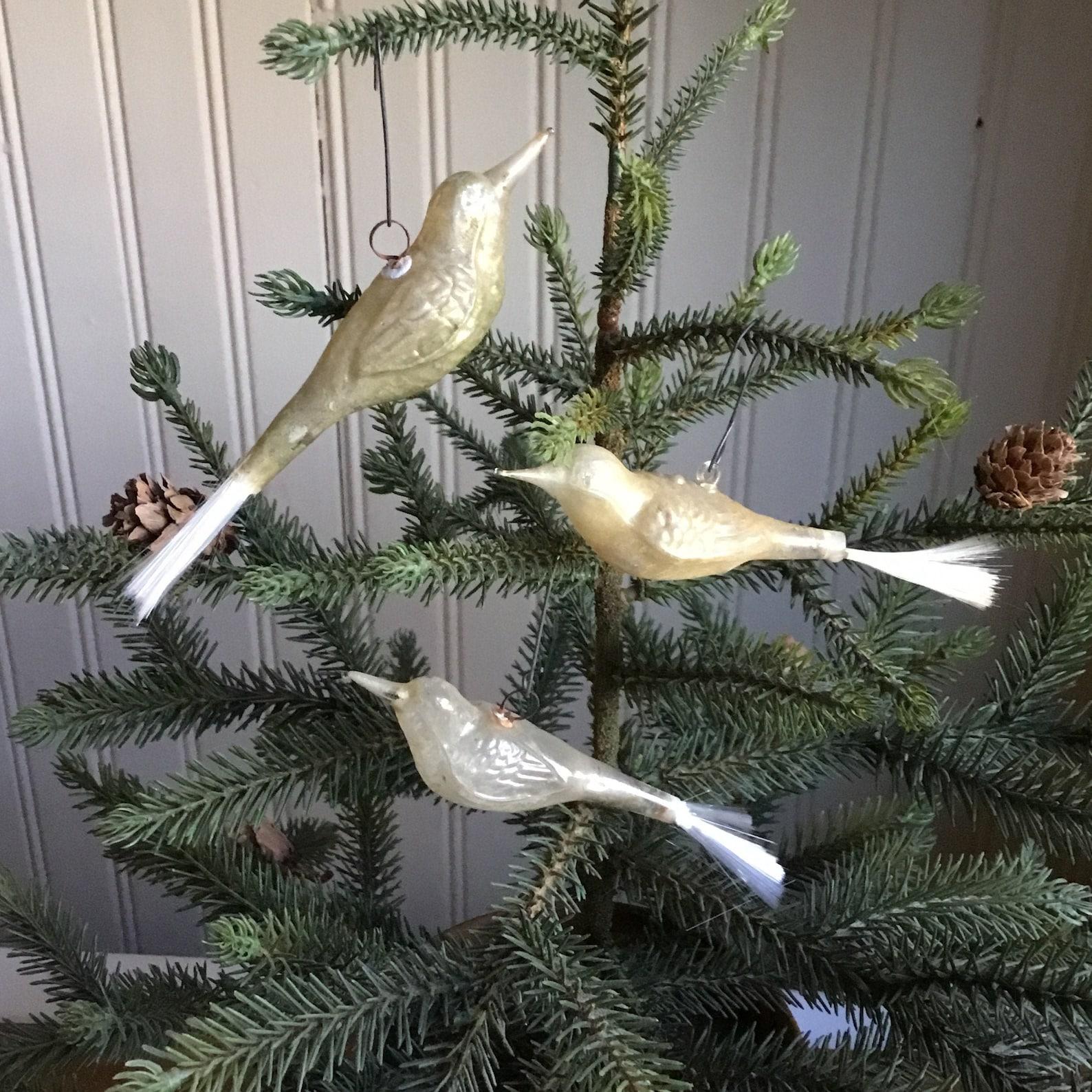 Mercury Glass Bird Christmas