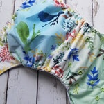 One Size AI2 Cloth Diaper Springtime Songbirds 15-40 lbs All in Two Limited Edition PUL Diaper Cover
