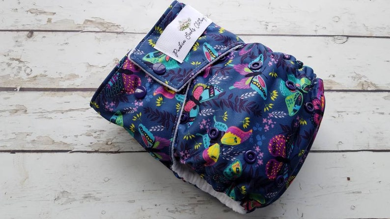 Pocket Cloth Diaper Fly Away Butterfly One Size Newborn Small image 0