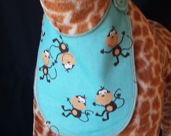 Monkey Around Print Baby Bib - Infant