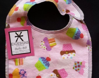 Cute Cupcakes Baby Bib - Infant