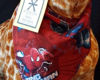Spider Man Print Baby Neck Bandana