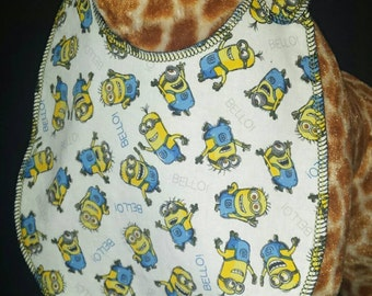 Minion Print Bib - Toddler size *Wider Size*