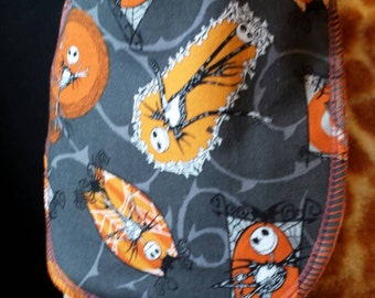 Orange Jack Nightmare Before Christmas Print Baby Bib- Infant