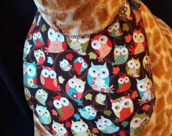 Baby Owl Print Baby Bib - Infant