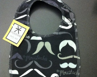 Mustache Print Baby Bib - Toddler *ON SALE*