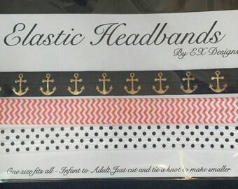 Set if 3 Printed Elastic Headband for Infants to Adults