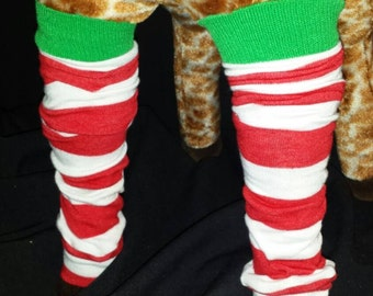 Christmas Holiday Red and White Stripe Baby Legs