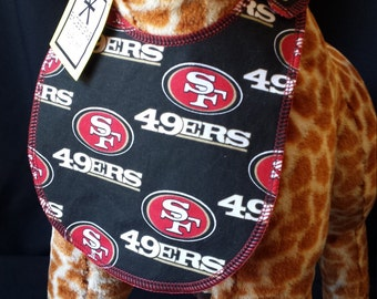 San Francisco Football print 100% Cotton Baby Bib - Toddler *ON SALE*