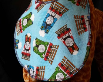 New Thomas The Tank Engine Print Baby Bib 100% cotton- Toddler size *Wider Size*