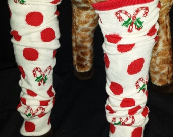 Christmas Holiday Candy Cane Themed Baby Legs