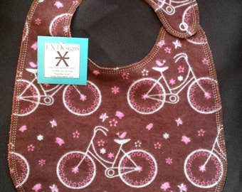 Bicycle Baby Bib 100% cotton- Toddler size *ON SALE**