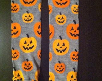 Halloween Themed Pumpkin Baby Legs