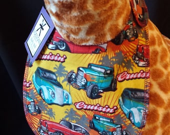 Hot Rod Print Baby Bib - Infant Size