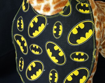 Batman Print Baby Bib - Toddler size *Wider Size*