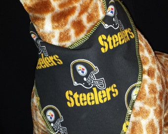 Pittsburgh Steelers Football Print Baby Neck Bandana
