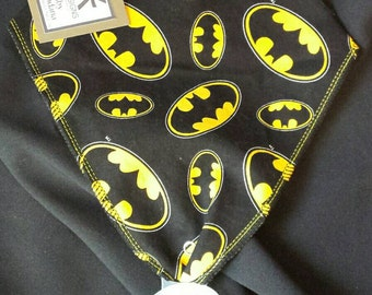Batman Print Baby Neck Bandana with Pacifier Holder