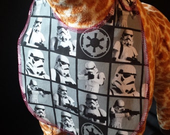 Girly Star Wars Storm Trooper Print Baby Bib - Toddler size *Wider Size*