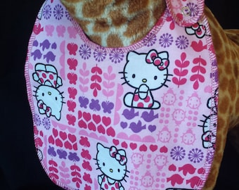 Hello Kitty and Animal Print Bib - Toddler size *Wider Size*