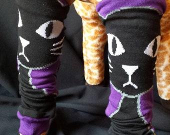 Halloween Kitty Cat Themed  Baby Legs/Leg Warmers