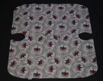 Reversible Baby Car Seat Canopy and Blanket - Bicycle/Hearts *ON SALE*