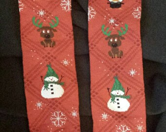 Christmas Holiday Reindeer, Penguin and Snowman Baby Legs