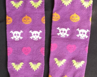 Halloween Themed Pumpkin, Skull and Bat Baby Legs