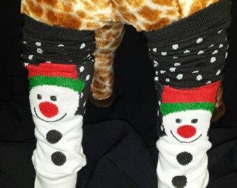 Christmas Holiday Snowman Baby Legs