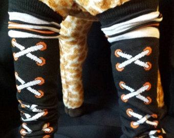 Hi Top Laced Shoes Halloween Themed Baby Legs/Leg Warmers