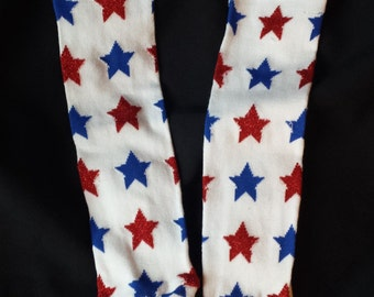 Leg warmer/Baby Legs for Babies and Children - America Red and Blue Stars