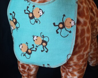 Monkey Around Print Baby Bib - Toddler Size *ON SALE*