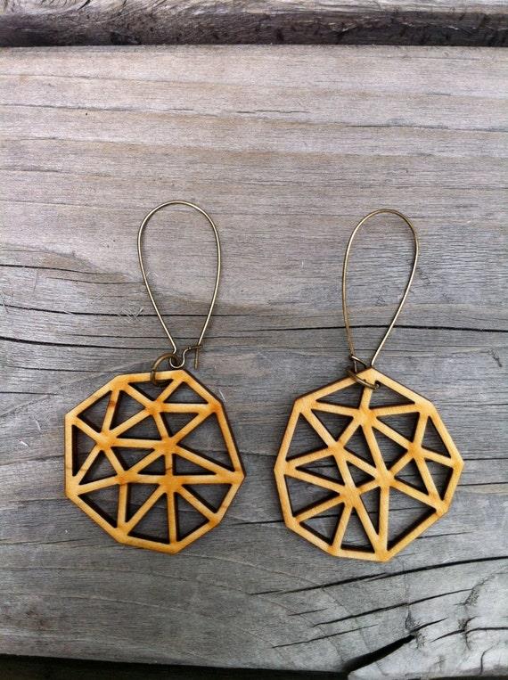 Wooden Ani Earrings