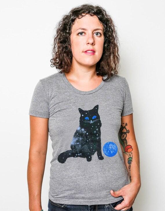 Ladies Space Cat Tee