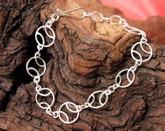 Sterling Silver Basketball Bracelet