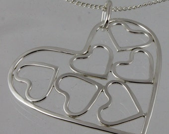 Hearts Within Heart Pendant
