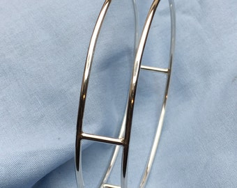 Sterling Silver Bridge Bangle