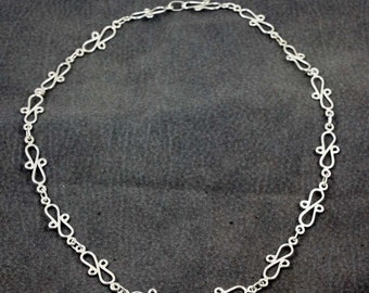Sterling Silver Bowtie necklace