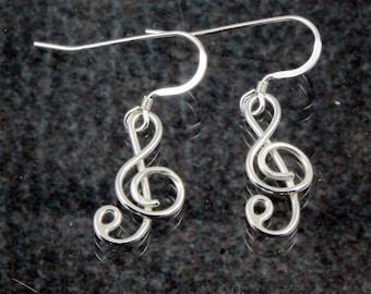 Treble Cleff Earrings