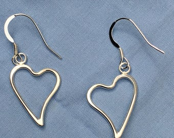 Wave Heart Earrings