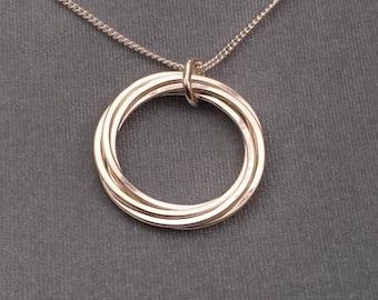 Large Russian Multi Ring Pendant