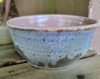 Pottery Serving Bowl, Chef Gift, Prep Bowl, Side Dish Vegetable Bowl Ready to Ship