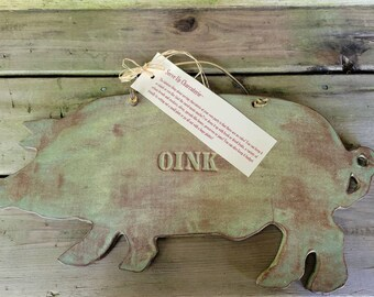 Charcuterie Tray,  Pottery Meat and Cheese Tray, Wall Display, Stoneware Pig, Oink Tray  Ready to Ship