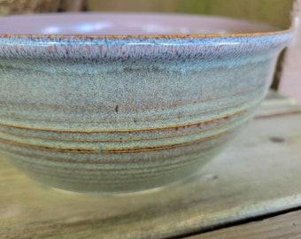 Pottery Serving Bowl, Big Salad Serving Bowl, Stoneware Serving Bowl, Ready to Ship