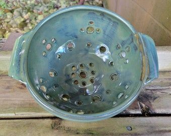 Handmade Colander, Berry Bowl, Stoneware Strainer, Ready to Ship