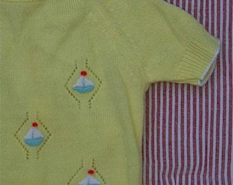 Sail away vintage knit sunsuit