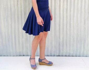 Short Circle Skirt // Great for Twirling, and Spinning! // Comfortable Wide Band // Universally Flattering Style // Handmade by Yana Dee