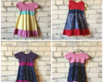Ruffled Organic Cotton Baby Dress - Handmade in the USA - Summer Dress for 6-18 Month Old Kids - For Special Occasions or Every Day Wear
