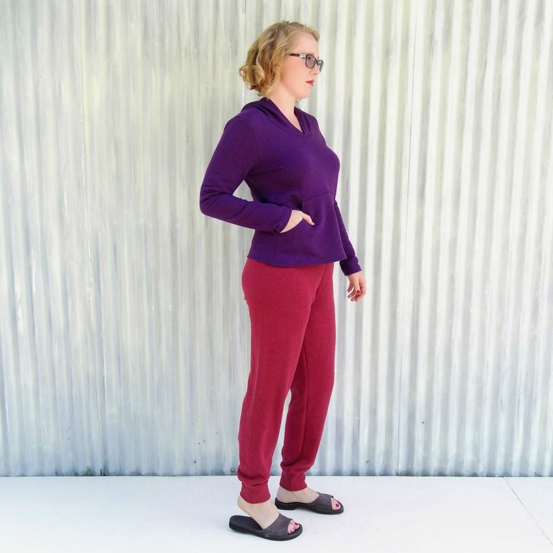 and Travel Perfect for Restorative Yoga CUSTOM made in your SIZE and COLOR Fall Runs Reading by the Fire Hemp Fleece Sweatpants